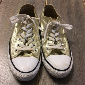 Converse All Star Gold Sneakers